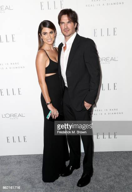 Nikki Reed and Ian Somerhalder attend ELLE's 24th Annual Women in Hollywood Celebration at Four Seasons Hotel Los Angeles at Beverly Hills on October...