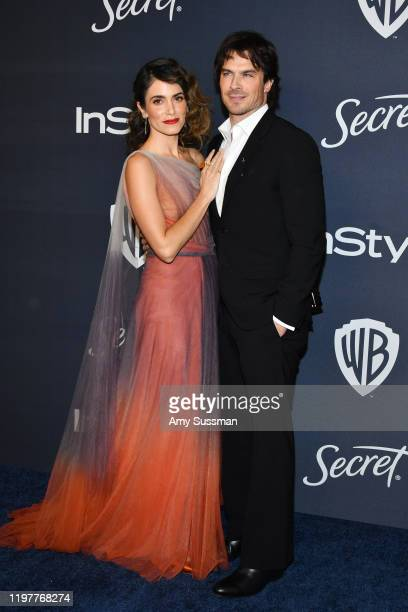 Nikki Reed and Ian Somerhalder attend the 21st Annual Warner Bros And InStyle Golden Globe After Party at The Beverly Hilton Hotel on January 05 2020...