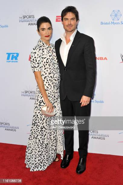 Nikki Reed and Ian Somerhalder attend the 5th annual Sports Humanitarian Awards presented by ESPN at The Novo Theater at LA Live on July 09 2019 in...