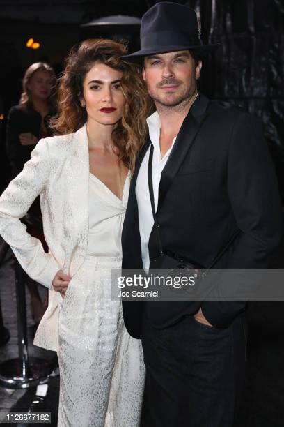 Nikki Reed and Ian Somerhalder attend the Cadillac Oscar Week Celebration at Chateau Marmont on February 21 2019 in Los Angeles California