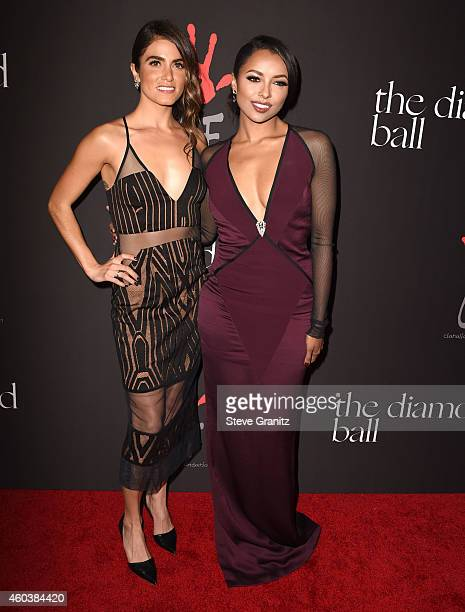 Nikki Reed and Kat Graham arrives at the Rihanna's First Annual Diamond Ball at The Vineyard on December 11 2014 in Beverly Hills California