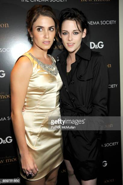 "Nikki Reed and Kristen Stewart attend THE CINEMA SOCIETY & D&G host a screening of ""THE TWILIGHT SAGA: NEW MOON"" at Landmark Sunshine Theater on..."
