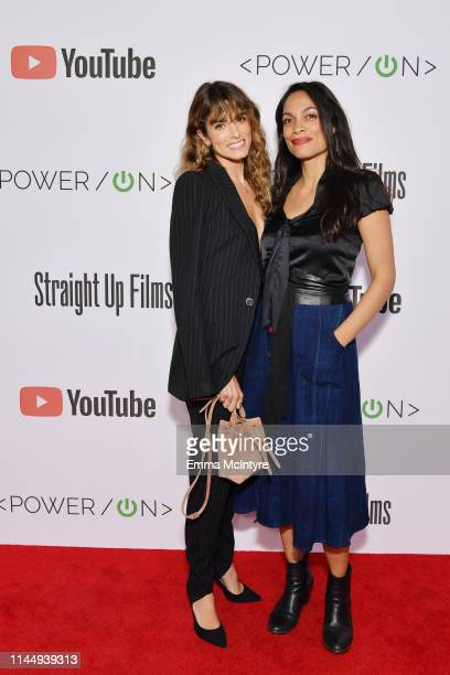 Nikki Reed and Rosario Dawson attend Power On Premiere By Straight Up Films With Support From YouTube at Google Playa Vista Office on April 24 2019...