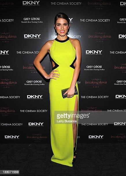 Nikki Reed attends the Cinema Society DKNY screening of The Twilight Saga Breaking Dawn Part 1 at Landmark Sunshine Cinema on November 16 2011 in New...