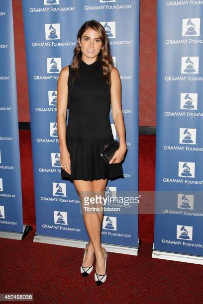 Nikki Reed attends the GRAMMY Camp LA launch party at El Rey Theatre on July 20 2014 in Los Angeles California