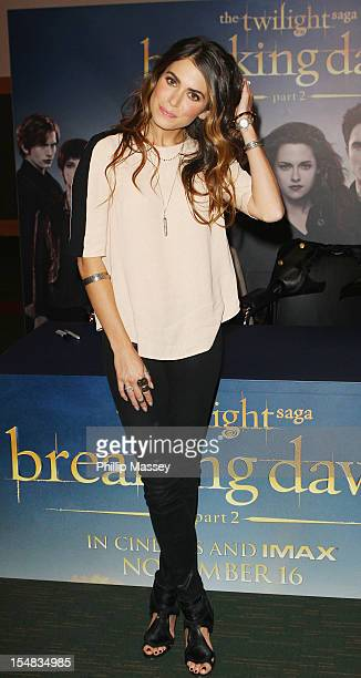 Nikki Reed attends the photocall for The Twilight Saga Breaking Dawn Part 2 at Dublin Convention Centre on October 27 2012 in Dublin Ireland