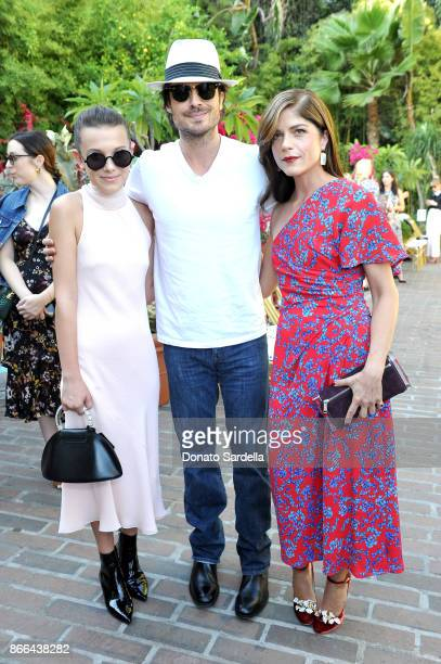 Nikki Reed Ian Somerhalder and Selma Blair attend CFDA/Vogue Fashion Fund Show and Tea at Chateau Marmont at Chateau Marmont on October 25 2017 in...