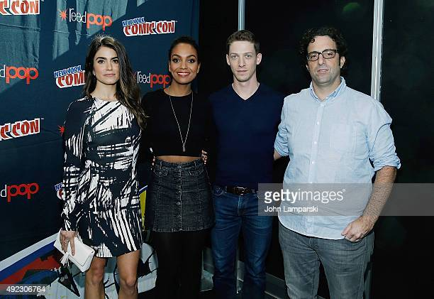 Nikki Reed Lyndie Greenwood Zach Appelman and Writer Raven Metzner of the television series Sleepy Hollow attends New York ComicCon 2015 day 4 at the...