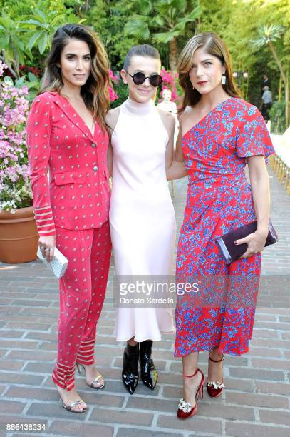 Nikki Reed Millie Bobby Brown and Selma Blair attend CFDA/Vogue Fashion Fund Show and Tea at Chateau Marmont at Chateau Marmont on October 25 2017 in...