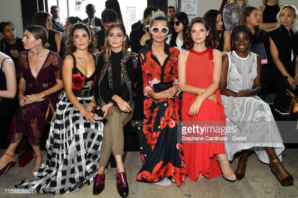 Nikki Reed Olivia Palermo Sveva Alviti Josephine Japy and Karidja Toure attend the Elie Saab Haute Couture Fall/Winter 2019 2020 show as part of...