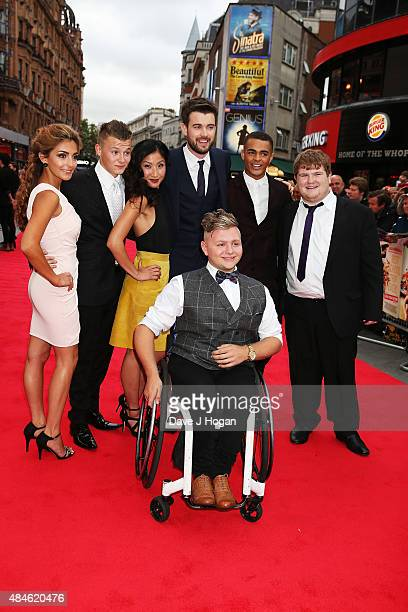 Nikki Runeckles Charlie Wernham Kae Alexander Jack Whitehall Layton Williams Ethan Lawrence and Jack Binstead attend the World Premiere of The Bad...