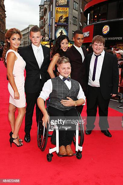 Nikki Runeckles Charlie Wernham Kae Alexander Layton Williams Ethan Lawrence and Jack Binstead attend the World Premiere of The Bad Education Movie...