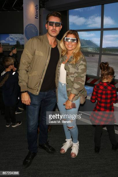 Nikki Sanderson and Ashley Taylor Dawson attend the launch of 'Dinosaurs in the Wild' at Event City on October 3 2017 in Manchester England
