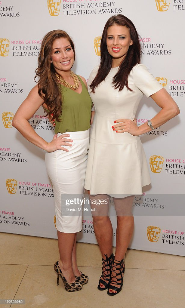 Nikki Sanderson (L) and Twinnie Lee Moore attend the BAFTA Nominees Party at The Corinthia Hotel on April 22, 2015 in London, England.