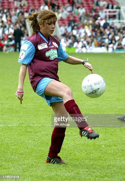 Nikki Sanderson at the Celebrity Soccer Six Tournament today at Upton Park in East London