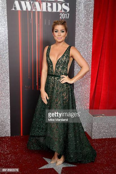 Nikki Sanderson attends The British Soap Awards at The Lowry Theatre on June 3 2017 in Manchester England The Soap Awards will be aired on June 6 on...
