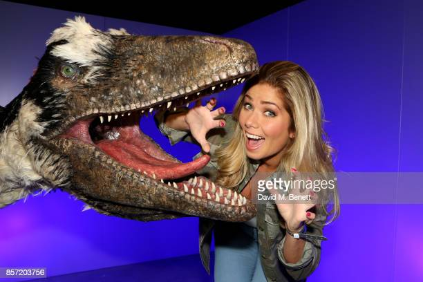 Nikki Sanderson attends the launch of 'Dinosaurs in the Wild' at Event City on October 3 2017 in Manchester England