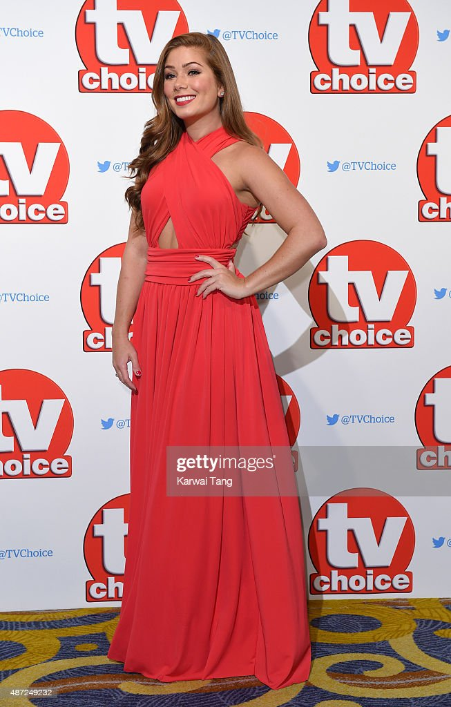 Nikki Sanderson attends the TV Choice Awards 2015 at Hilton Park Lane on September 7, 2015 in London, England.