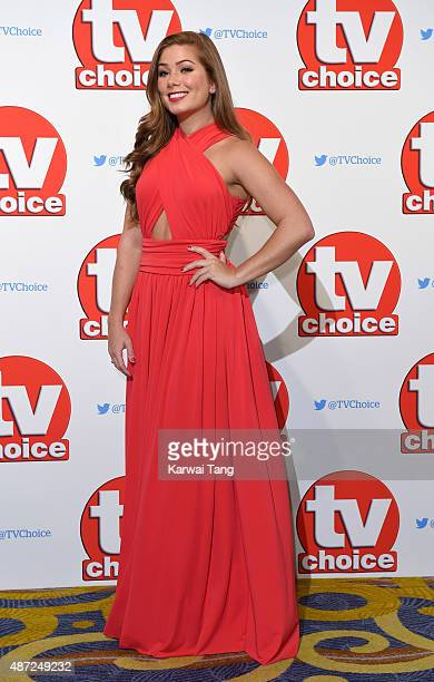 Nikki Sanderson attends the TV Choice Awards 2015 at Hilton Park Lane on September 7 2015 in London England