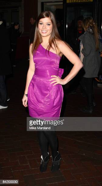 Nikki Sanderson attends the UK gala screening of Clubbed at Ruby Blue on January 7 2009 in London England