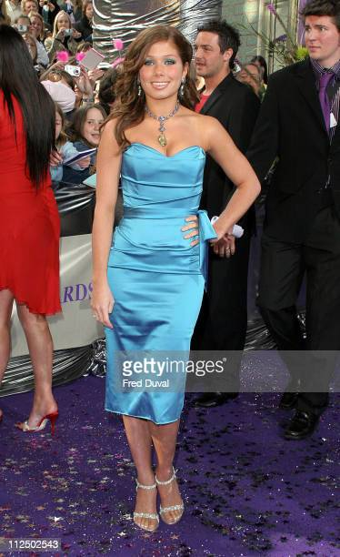 Nikki Sanderson during 2005 British Soap Awards Arrivals at BBC Television Centre in London Great Britain