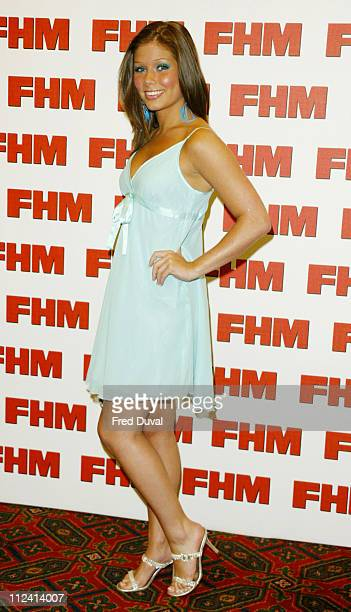 Nikki Sanderson during FHM Top 100 Sexiest Women 2004 at Guild Hall in London Great Britain