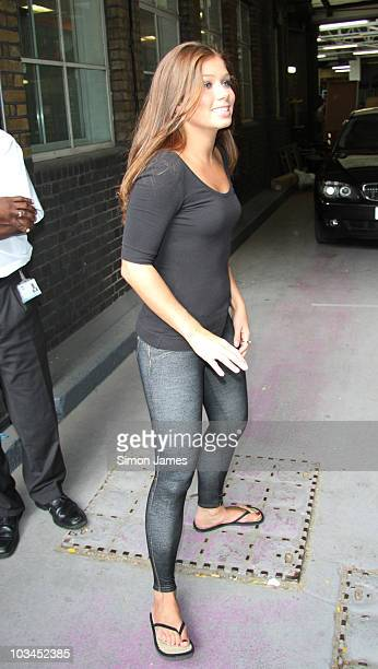 Nikki Sanderson sighted leaving GMTV on August 19 2010 in London England