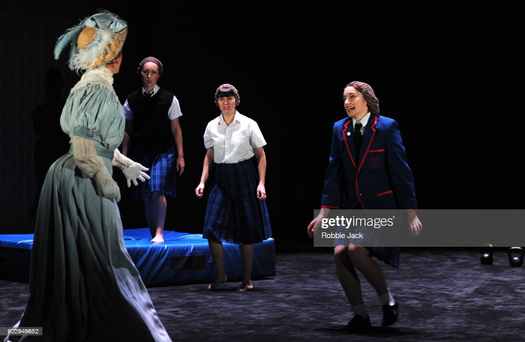Nikki Shiels,Harriet Gordon-Anderson, Arielle Gray and Elizabeth Nabben in Malthouse Theatre / Black Swan State Theatre's production of Joan Lindsay's Picnic at Hanging Rock directed by Matthew Lutton at The Barbican on February 21, 2018 in London, England.