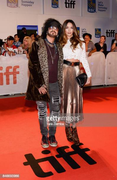 Nikki Sixx and Courtney Sixx attend the 'Long Time Running' premiere during the 2017 Toronto International Film Festival at Roy Thomson Hall on...
