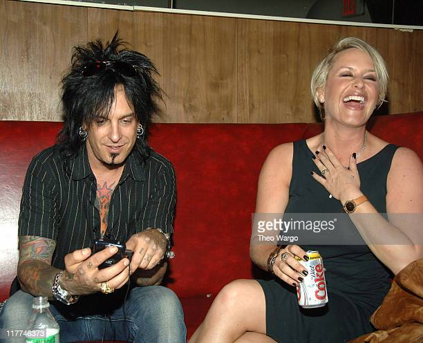 Nikki Sixx and Kelly Gray during Meat Loaf 'Bat Out of Hell III The Monster is Loose' Press Conference and Listening Party at Avalon in New York New...