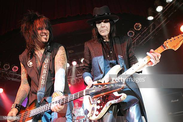 Nikki Sixx and Mick Mars of Motley Crue during Motley Crue Better Live Than Dead Tour Announcement Concert at The Palladium in Hollywood California...