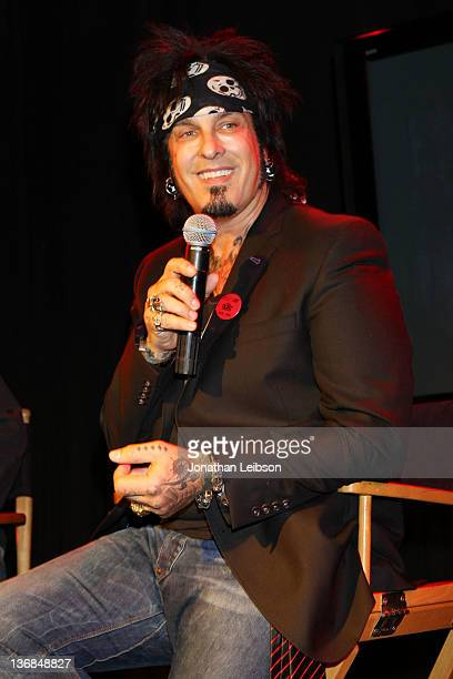 Nikki Sixx attends the 987 FM And Premiere Networks Make Special Announcement With Nikki Sixx At The Roxy at The Roxy Theatre on January 11 2012 in...