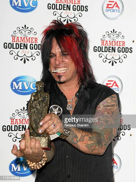 Nikki Sixx during The 2004 Metal Hammer 'Golden God' Award at The Ocean London in London Great Britain