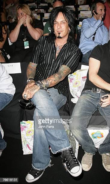 Nikki Sixx during the Rosa Cha 2008 Fashion Show at the Tent in Bryant Park during the MercedesBenz Fashion Week Spring 2008 on September 8 2007 in...