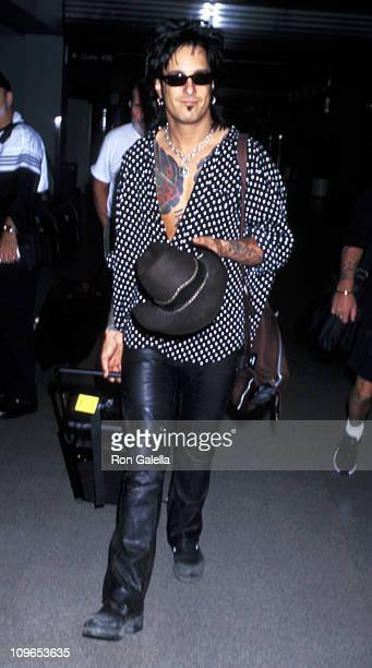 Nikki Sixx during Tommy Lee Sighting at Los Angeles International Airport June 11 1997 at LAX in Los Angeles California United States