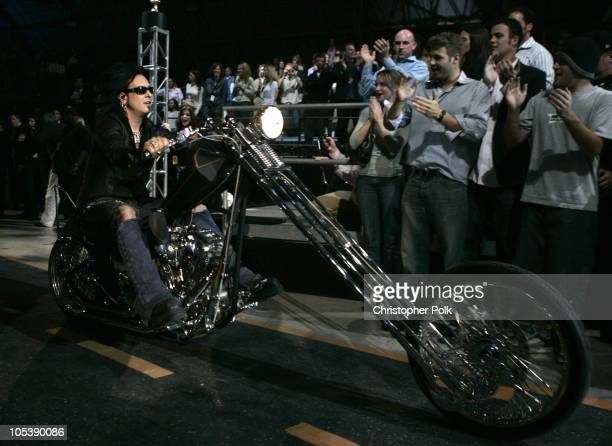 Nikki Sixx of Motley Crue during Spike TV's 2nd Annual Video Game Awards 2004 Show Hosted by Snoop Dogg at Barker Hangar in Santa Monica California...