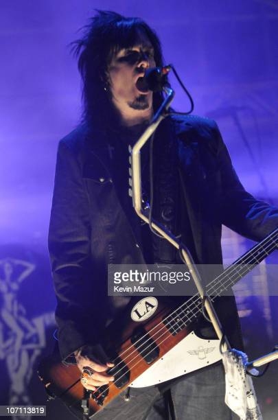 *EXCLUSIVE* Nikki Sixx of Motley Crue performs at The Late Show with David Letterman to promote their new album Saints of Los Angeles and to kick off...