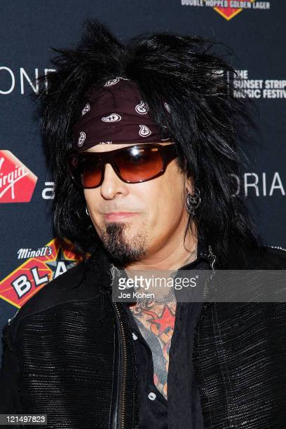 Nikki Sixx of the band Motley Crue attends the 4th Annual Sunset Strip Music Festival Get Stripped After Party on August 19 2011 in West Hollywood...