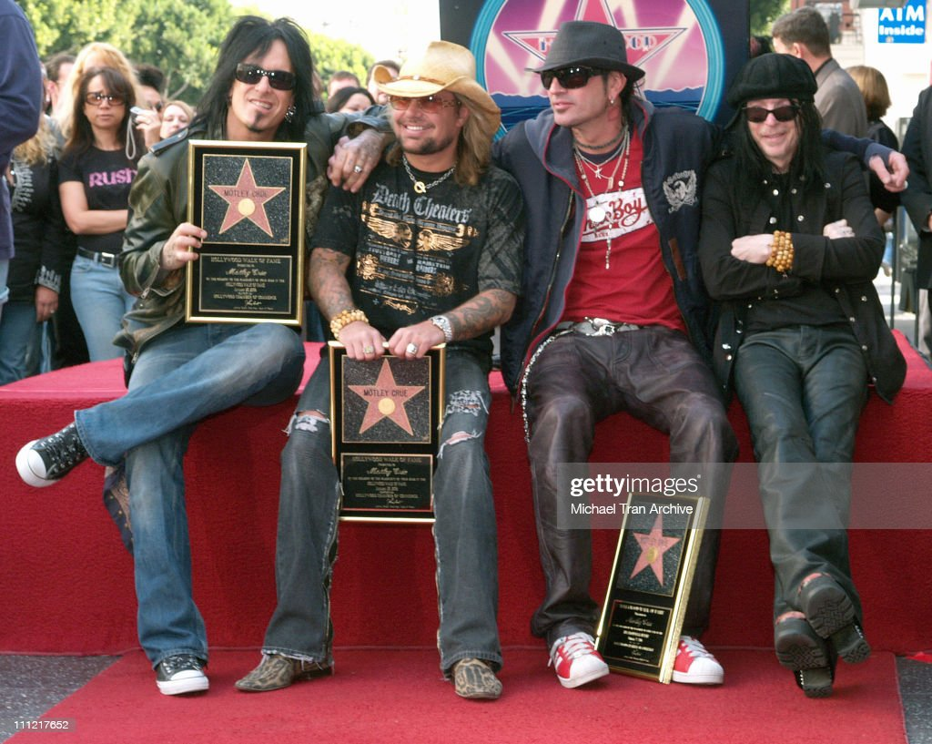 Motley Crue Honored With a Star on the Hollywood Walk of Fame For Their