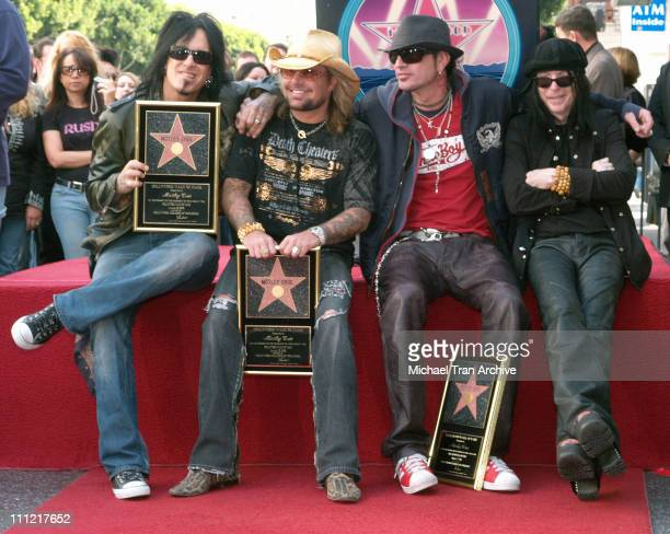 Nikki Sixx Vince Neil and Tommy Lee and Mick Mars of Motley Crue