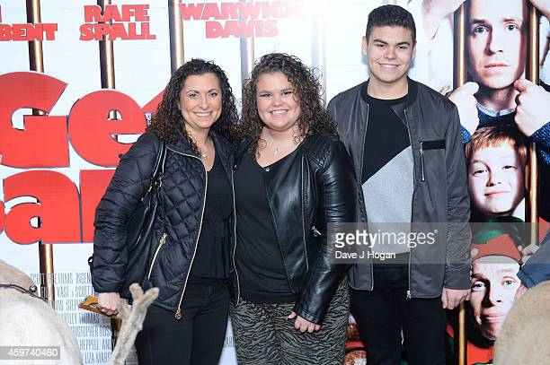 Nikki Tapper Amy Tapper and Josh Tapper attends the UK Premiere of 'Get Santa' at Vue West End on November 30 2014 in London England