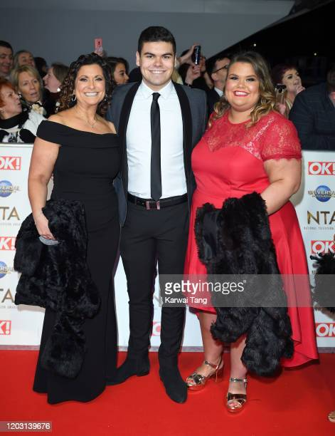 Nikki Tapper Josh Tapper and Amy Tapper attend the National Television Awards 2020 at The O2 Arena on January 28 2020 in London England