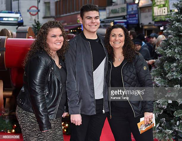 Nikki Tapper Josh Tapper and Amy Tapper attend the UK Premiere of 'Get Santa' at Vue West End on November 30 2014 in London England