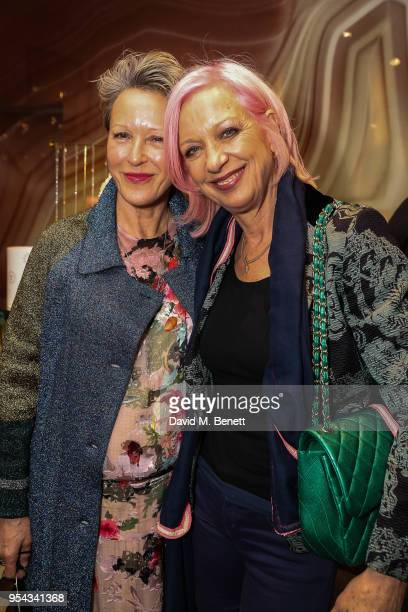Nikki Tibbles and Mary Greenwell attend the 'Baar And Bark Evening' hosted by Baar Bass and Nikki Tibbles in aid of the Wild At Heart Foundation on...