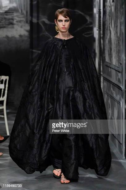 Nikki Tissen walks the runway during the Christian Dior Haute Couture Fall/Winter 2019 2020 show as part of Paris Fashion Week on July 01, 2019 in...