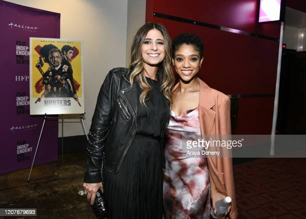 """Nikki Toscano and Tiffany Boone at Film Independent Screening Series Presents """"Hunters"""" at ArcLight Culver City on February 20, 2020 in Culver City,..."""
