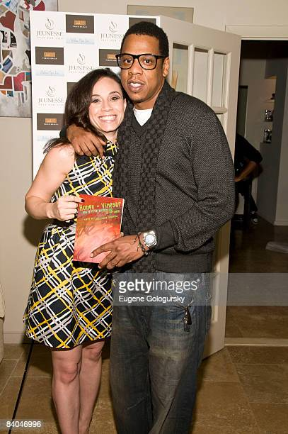 Nikki Townsend and Jay Z attend the Launch of Holm Spa at Jeunesse Spa / Fabio Scalia Salon on December 15 2008 in New York City