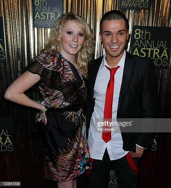 Nikki Webster and Anthony Callea arrive at the 8th annual ASTRA Awards at the State Theatre on June 24 2010 in Sydney Australia