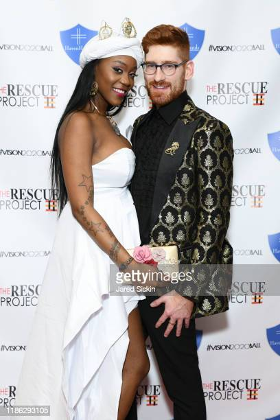 Nikki Woods and Connell Thompson attend The 3rd Annual Vision 2020 Ball By The Rescue Project Haven Hands Inc Brought To You By AMAZZZING HUMANS at...