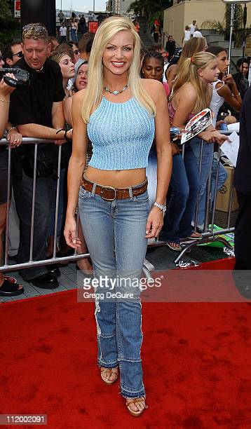 Nikki Ziering During American Idol Season 1 Finale Results Show Arrivals At Kodak Theater